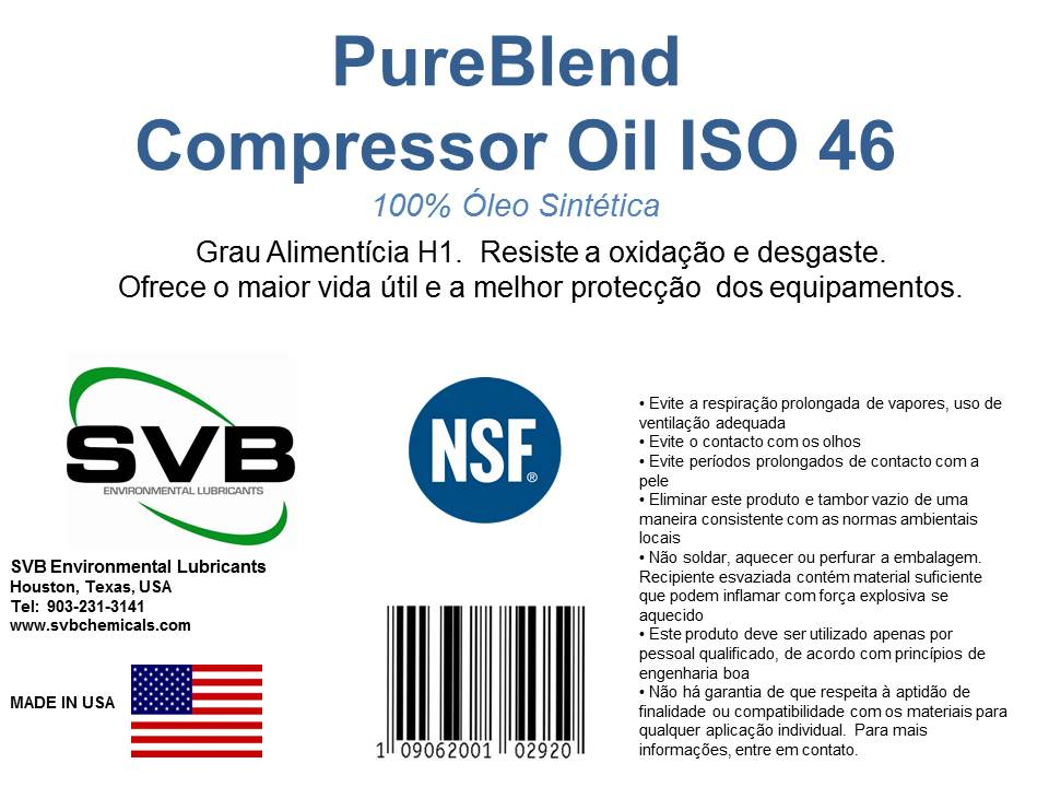 Food Grade Lubricant for Air Compressors