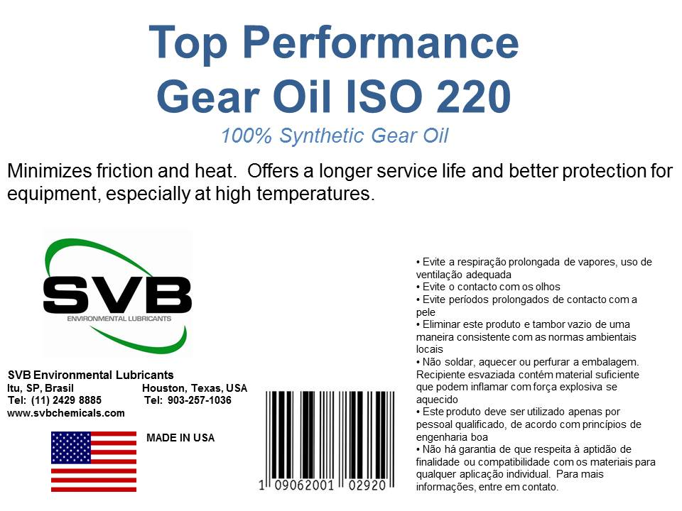 Synthetic Gear Oils